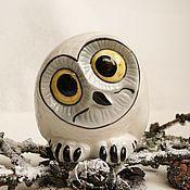 Для дома и интерьера handmade. Livemaster - original item Porcelain statuette of small owl. Handmade.