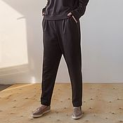 Одежда handmade. Livemaster - original item Browny knitted trousers. Handmade.
