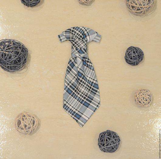 Галстуки, бабочки ручной работы. Ярмарка Мастеров - ручная работа. Купить Детский галстук Аскот. Handmade. Синий, 1 сентября