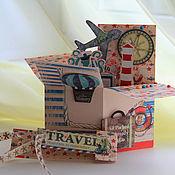 """Открытки ручной работы. Ярмарка Мастеров - ручная работа Открытка """"Счастливое море"""" pop-up box. Handmade."""
