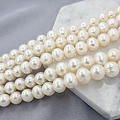 Материалы для творчества handmade. Livemaster - original item 1/2 strand Pearl Natural approx. 7 mm white (3156). Handmade.
