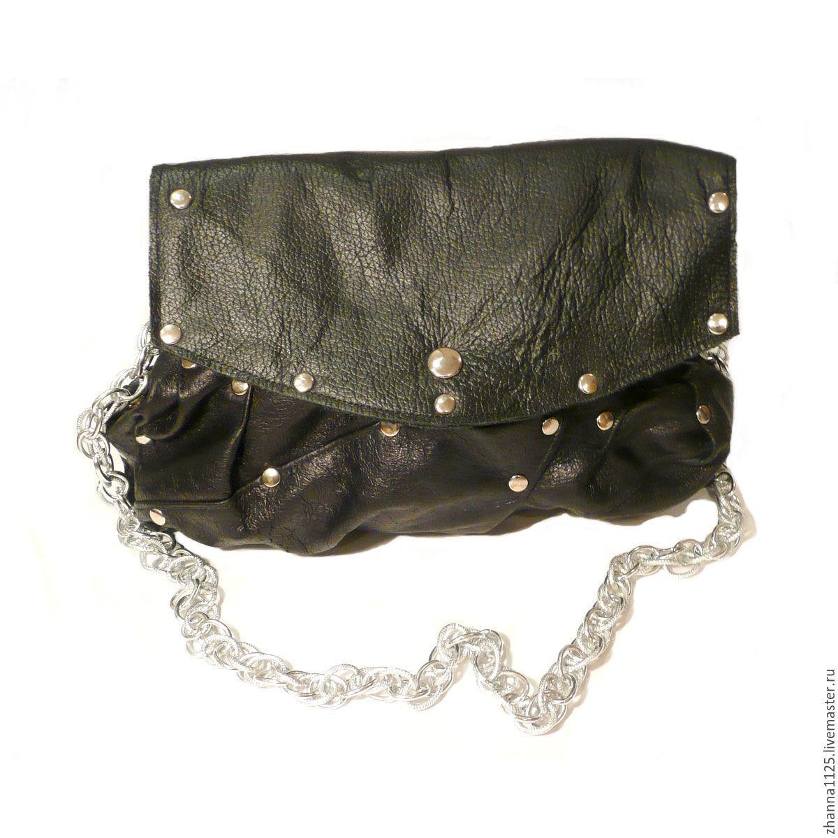99fc29ab6950 Кожаная сумка с заклепками
