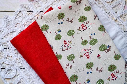 Куклы и игрушки ручной работы. Ярмарка Мастеров - ручная работа. Купить В-12 Набор ткани (лен натуральный, Корея). Handmade.