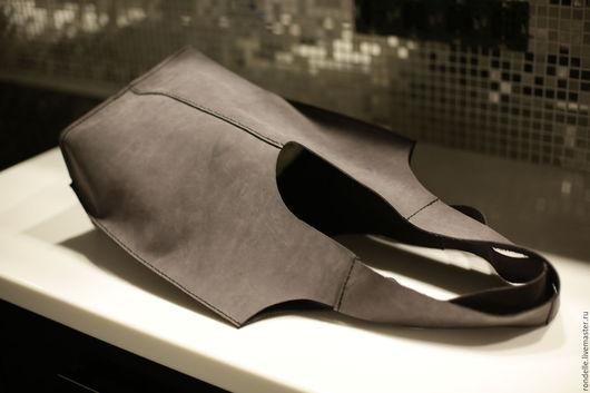 Женские сумки ручной работы. Ярмарка Мастеров - ручная работа. Купить Сумка мешок. Handmade. Темно-серый, сумка кожаная