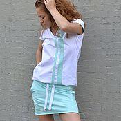 Одежда ручной работы. Ярмарка Мастеров - ручная работа Комплект юбка и туника ТЕННИС. Handmade.
