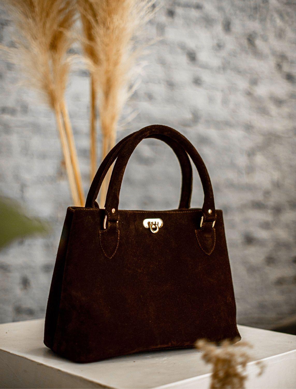 Сумка Мия из натуральной замши цвета горький шоколад, Классическая сумка, Москва,  Фото №1