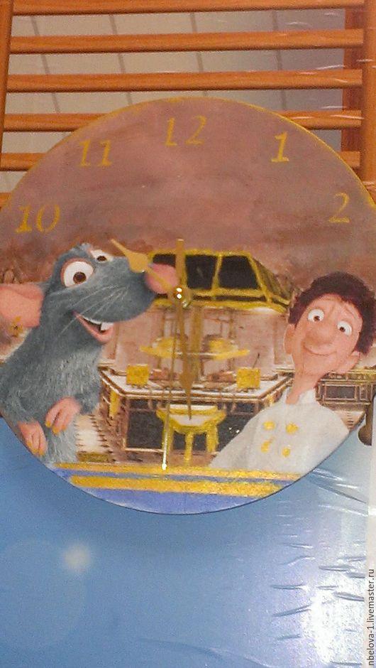 """Детская ручной работы. Ярмарка Мастеров - ручная работа. Купить часы """"рататтуй"""". Handmade. Коричневый, ручная авторская работа, подарок"""