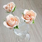 Свадебный салон ручной работы. Ярмарка Мастеров - ручная работа Шпильки с персиковыми розами. Handmade.