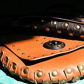 Сумки и аксессуары handmade. Livemaster - original item leather bag (wheel steampunk). Handmade.