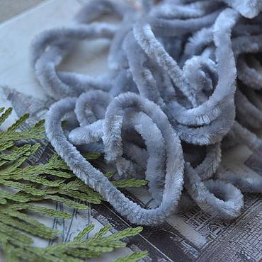 Материалы для творчества ручной работы. Ярмарка Мастеров - ручная работа Синель 5 мм Серый. Handmade.