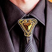 Украшения handmade. Livemaster - original item Men`s brooch. jewelry for men. brooch for jacket. Handmade.