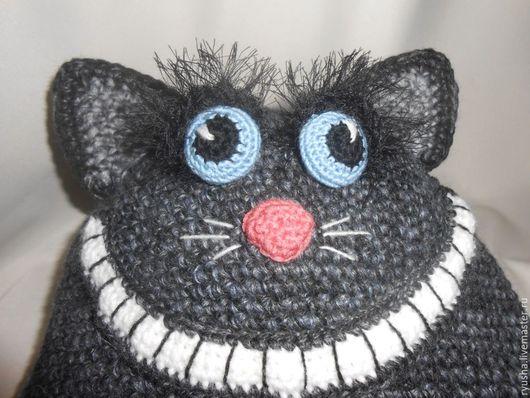 """Шапки ручной работы. Ярмарка Мастеров - ручная работа. Купить Шапка с подкладкой """" Чеширский кот"""". Handmade. Серый, котошапка"""