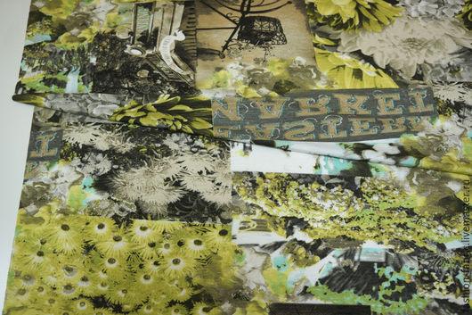 Шитье ручной работы. Ярмарка Мастеров - ручная работа. Купить Трикотаж вискозный с принтом цветочный 11050288 Италия Цена за метр. Handmade.