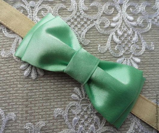 Галстуки, бабочки ручной работы. Ярмарка Мастеров - ручная работа. Купить Галстук бабочка Мятно-зеленый. Handmade. Мятный