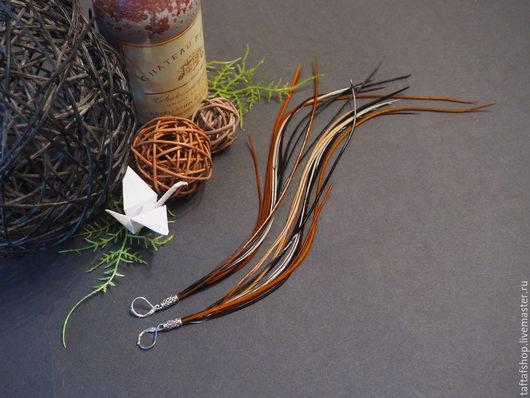 Серьги с перьями - необычное украшение в стиле бохо! Серьги ручной работы прекрасно смотрятся! Яркие серьги с перьями предадут вашему образу интригующую изюминку и сделают его незабываемым!