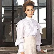 Одежда handmade. Livemaster - original item Blouse cotton Victorian