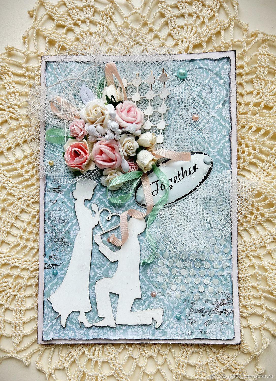 Делаем открытки к свадьбе, картинка днем