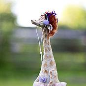 Куклы и игрушки ручной работы. Ярмарка Мастеров - ручная работа Жираф меломан. Handmade.