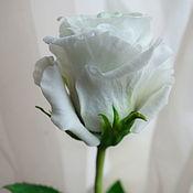 """Цветы ручной работы. Ярмарка Мастеров - ручная работа Роза из полимерной глины """"Белая зима"""". Handmade."""