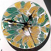 """Для дома и интерьера ручной работы. Ярмарка Мастеров - ручная работа Часы настенные """"Цветы солнца"""". Handmade."""