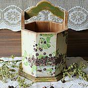 Короб деревянный Ежевика Мона Свард в стиле кантри, винтаж