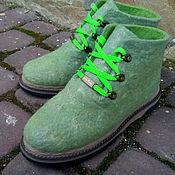Обувь ручной работы. Ярмарка Мастеров - ручная работа Эко ботиночки шерстяные высокие Текила. Handmade.