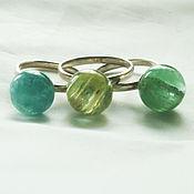 handmade. Livemaster - original item Rings with balls of aquamarine, beryl, heliodor. Handmade.