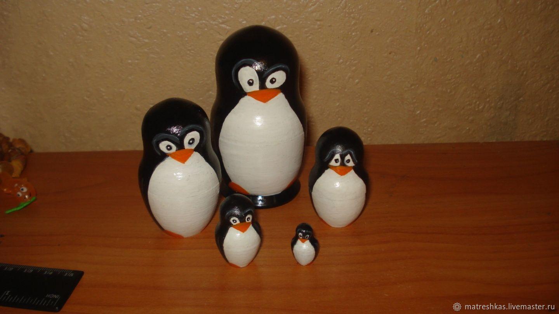 Matryoshka Penguins, Stuffed Toys, Moscow,  Фото №1