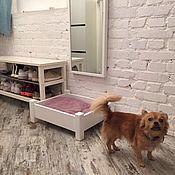 """Для домашних животных, ручной работы. Ярмарка Мастеров - ручная работа Деревянный лежак для собак """"Белый"""". Handmade."""