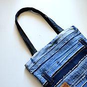 Сумки и аксессуары ручной работы. Ярмарка Мастеров - ручная работа Джинсовая сумка Denim сумка-шопер. Handmade.