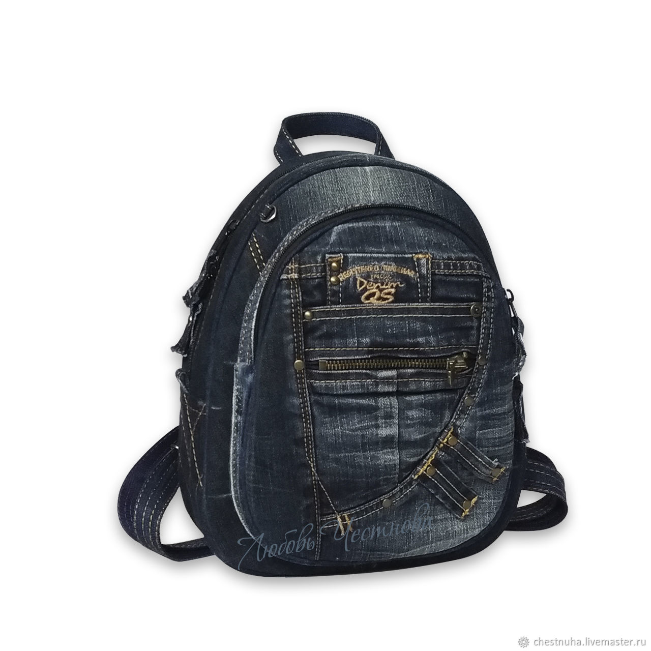 Copy of Denim backpack Denim_, Backpacks, Kostroma,  Фото №1