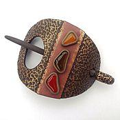 Украшения handmade. Livemaster - original item Barrette Bronze sun (Golden, brooch, hair pin shawl). Handmade.