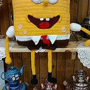 Куклы и игрушки ручной работы. Ярмарка Мастеров - ручная работа игрушка-подушка Спанч-Боб. Handmade.