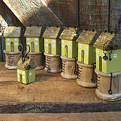 Для дома и интерьера ручной работы. Ярмарка Мастеров - ручная работа Домик-органайзер для ножниц - 4. Handmade.