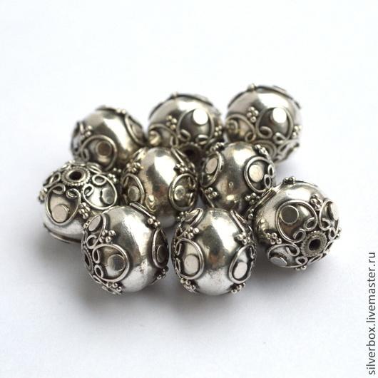 Бусина Бали SD85 серебро 925 пробы Для изготовления Украшений Нина(SilverBox)