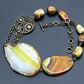 Украшения handmade. Livemaster - original item Massive necklace with agate slice