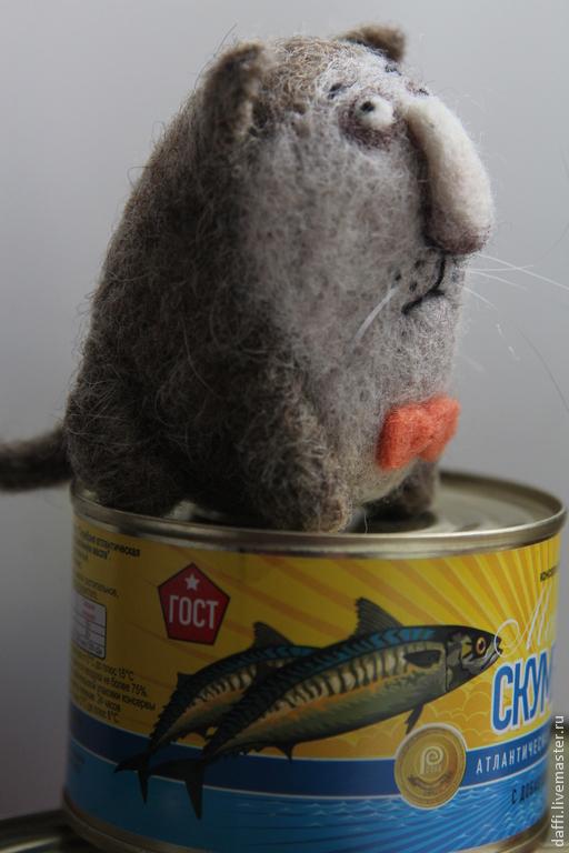 Игрушки животные, ручной работы. Ярмарка Мастеров - ручная работа. Купить Мартовский кот. Handmade. Коричневый, шерсть 100%