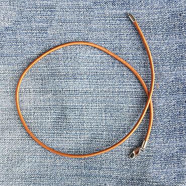 Украшения ручной работы. Ярмарка Мастеров - ручная работа Шнурок из кожи 2,0мм медного цвета, гладкий, натуральный. Handmade.