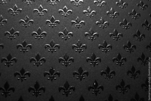Открытки и скрапбукинг ручной работы. Ярмарка Мастеров - ручная работа. Купить Бумага «Лилия» с тиснением черная, 110 гр/м2. Handmade.