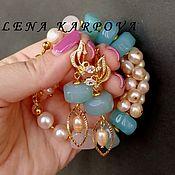 Украшения handmade. Livemaster - original item Set Water element. Agate, rose quartz, pearls. Handmade.