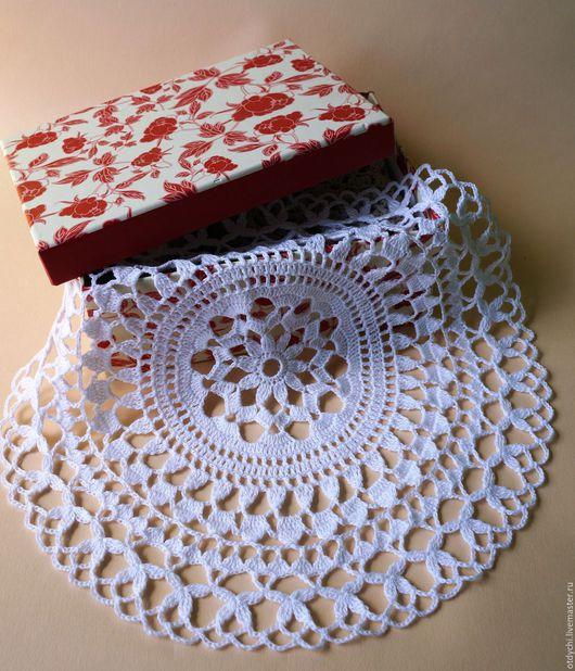 Текстиль, ковры ручной работы. Ярмарка Мастеров - ручная работа. Купить ВАРИАНТ салфетка декоративная. Handmade. Белый, для дома и интерьера