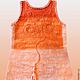 """Платья ручной работы. Платье """"Оrange"""" бохо.. ElKo (Элла Ковалева). Ярмарка Мастеров. Натуральный шелк, шёлк"""