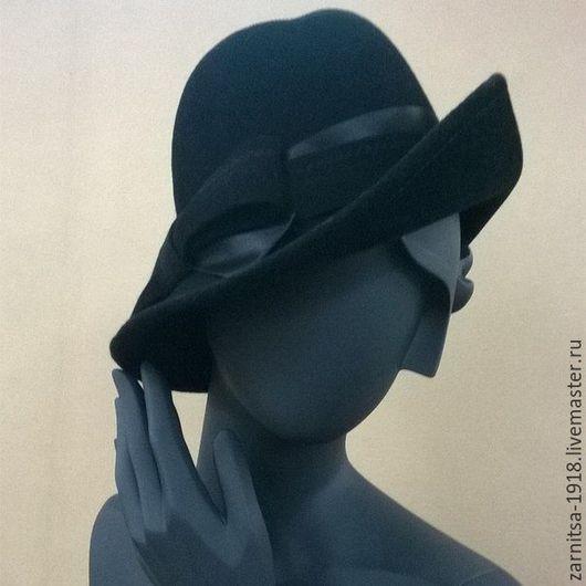 Шляпы ручной работы. Ярмарка Мастеров - ручная работа. Купить Ш3447 Велюровая шляпка. Handmade. Черный, шляпка, шляпка женская