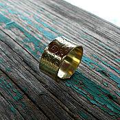 """Украшения ручной работы. Ярмарка Мастеров - ручная работа Кольцо """"Скоро весна"""" (латунное широкое кольцо с рисунком узором). Handmade."""