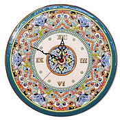 Для дома и интерьера ручной работы. Ярмарка Мастеров - ручная работа часы декоративные,керамические,круглые 40см.. Handmade.