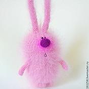 """Подарки к праздникам ручной работы. Ярмарка Мастеров - ручная работа Зайка """"Розовое облако"""" (Вязаные зацйы игрушки). Handmade."""