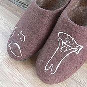 """Обувь ручной работы. Ярмарка Мастеров - ручная работа Войлочные тапочки мужские """"Большая удача"""". Handmade."""
