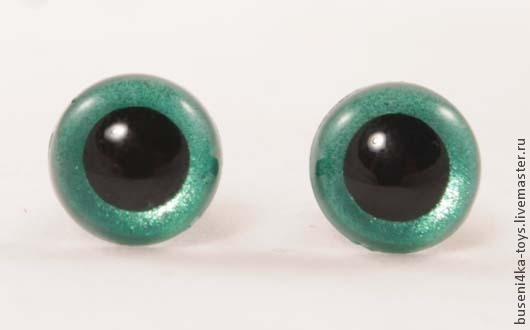 """Куклы и игрушки ручной работы. Ярмарка Мастеров - ручная работа. Купить 10,5мм Глаза для игрушек (темно-зеленые) 2шт. """"2594"""". Handmade."""