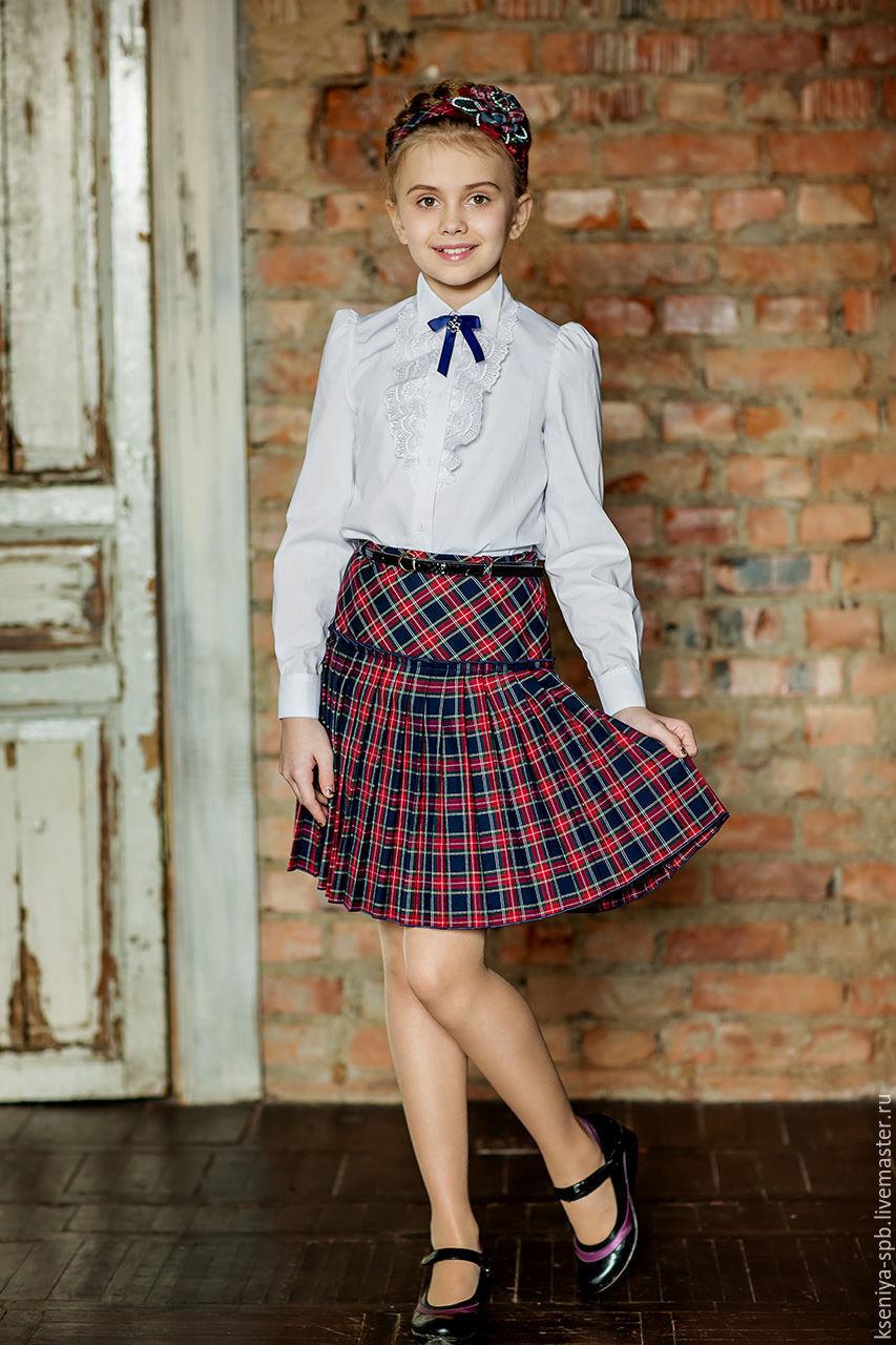 Купить юбку шотландку в красную клетку