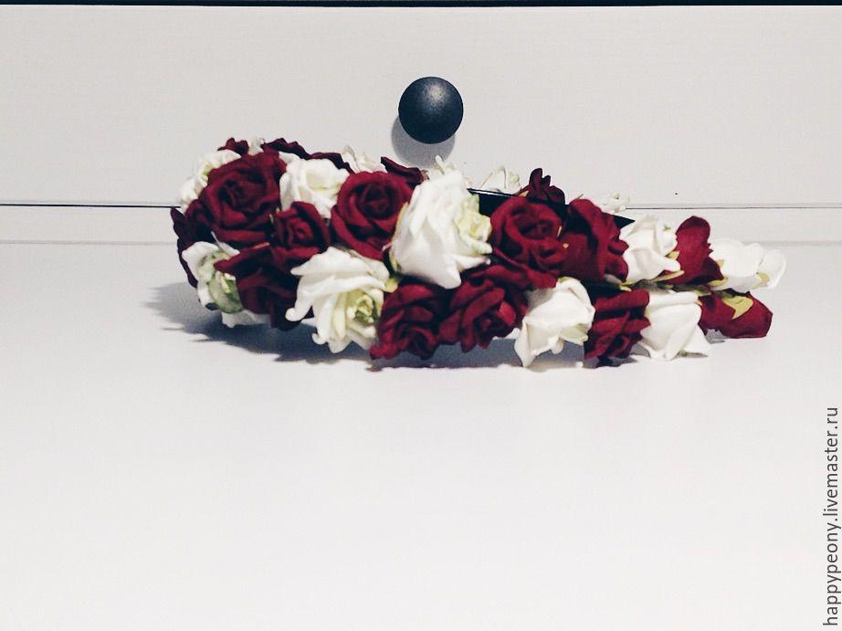 Bezel with rose Velvet, Headband, Moscow,  Фото №1